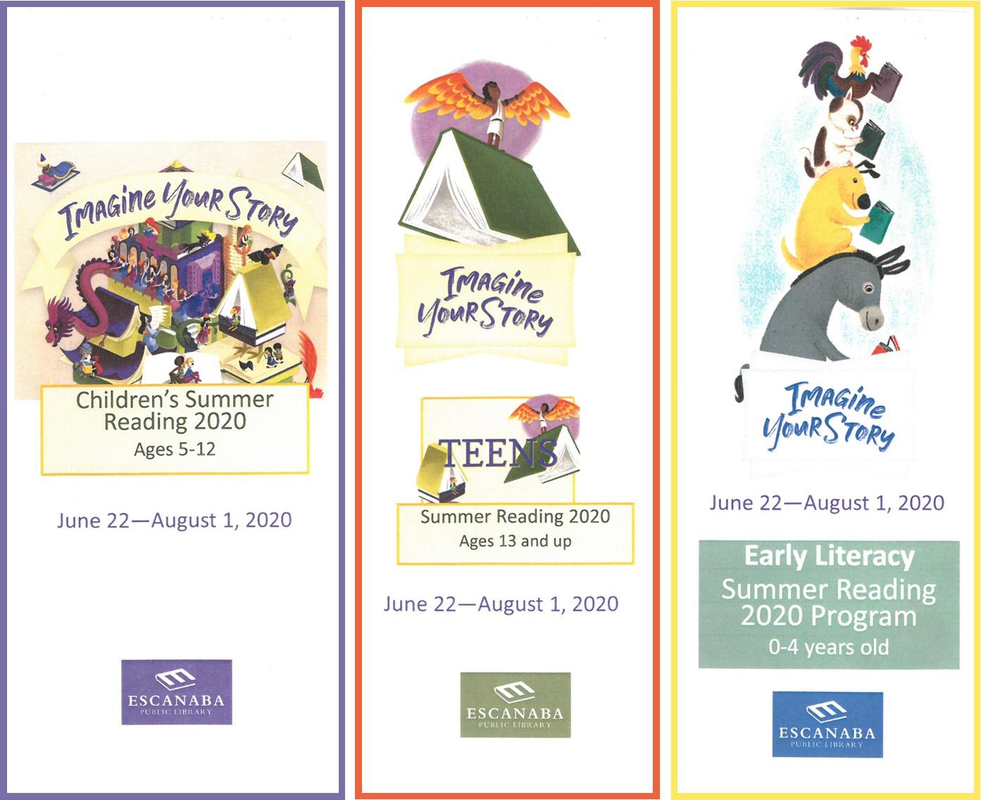 Summer Reading Program June 22 - August 1, 2020