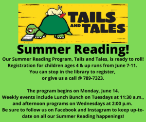 Registration begins for Children's Summer Reading Program